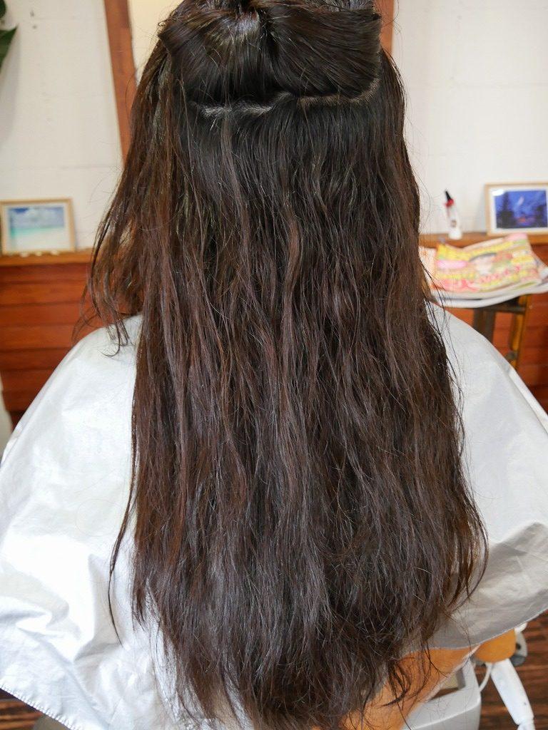 自然な縮毛矯正