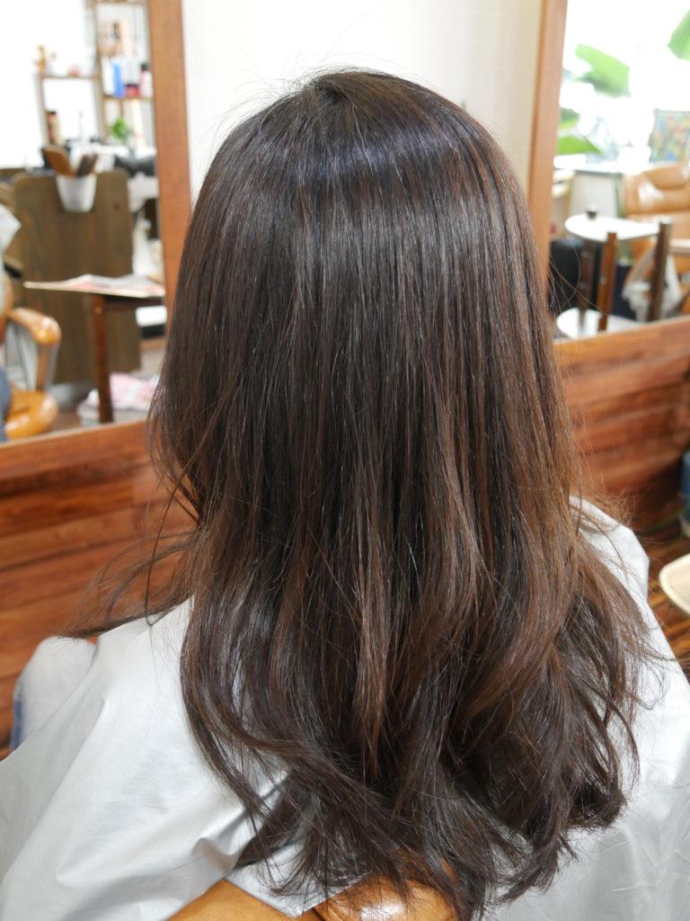 縮毛矯正に巻き髪