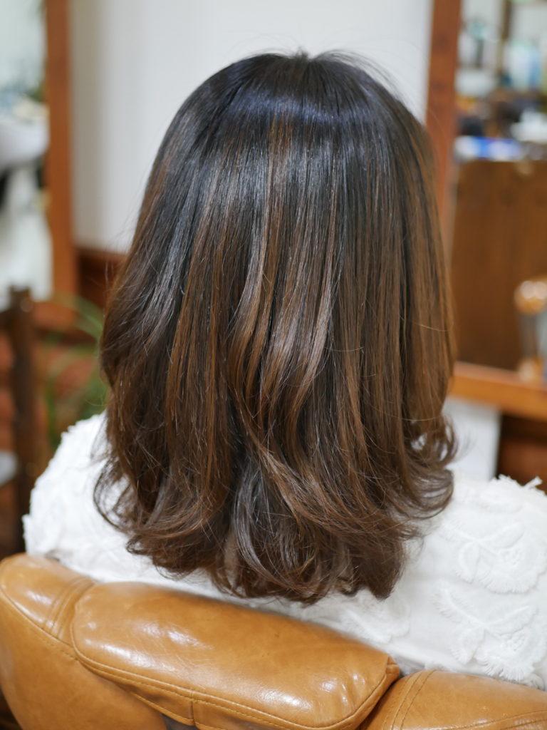 縮毛矯正巻き髪